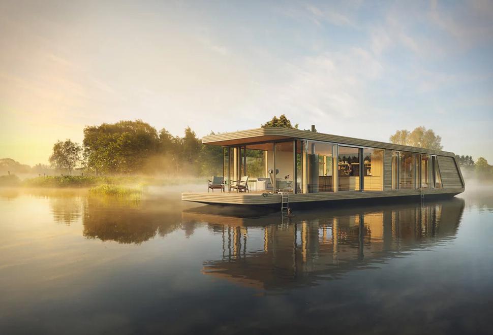 NATURECRUISER Hausboot von Die Wohnschiffmanufaktur und +31 Architects