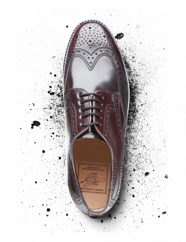 London Full - Brogue C braun Draufsicht