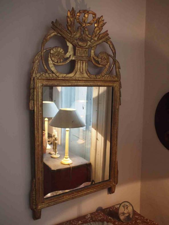 echt vergoldeter Spiegel - Louis XVI Gesamtansicht
