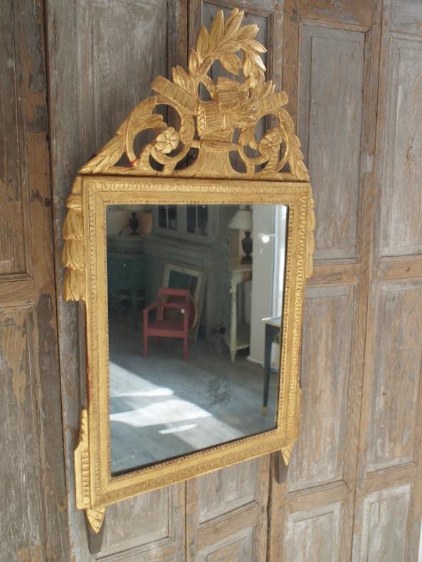 Spiegel mit Aufsatz - Louis XVI