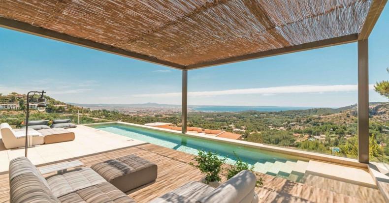 Spektakuläre High-End-Villa mit atemberaubendem Blick über die Bucht von Palma, Mallorca