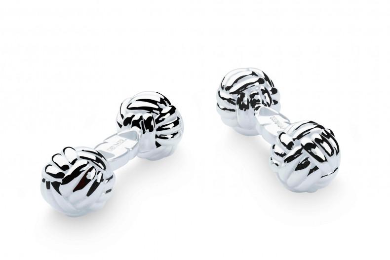 Klassische neutrale Manschettenknöpfe in hochwertiger Knotenform - Deumer