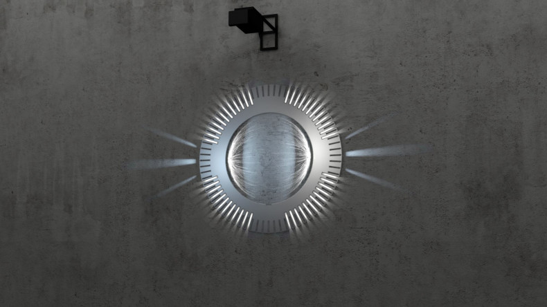 Gearwheel 3D Lightobject Licht an
