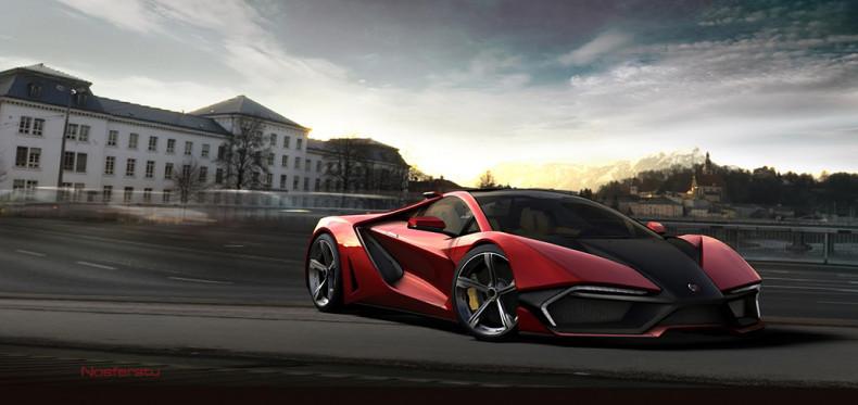 Individual sports car vordere Seitenansicht