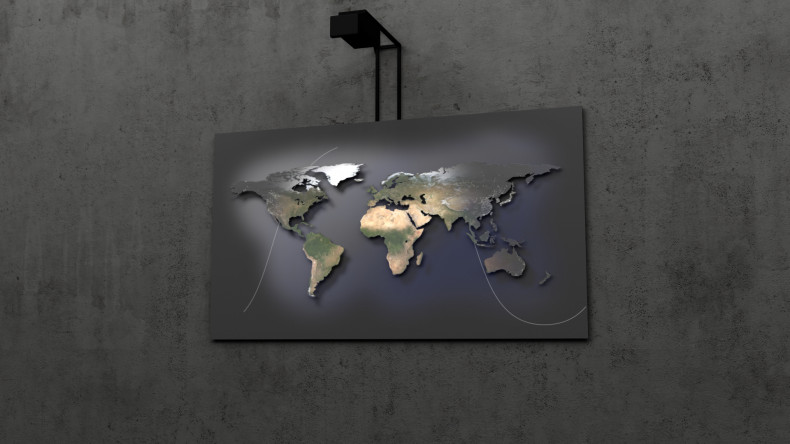 Worldmap 3D Lightobject