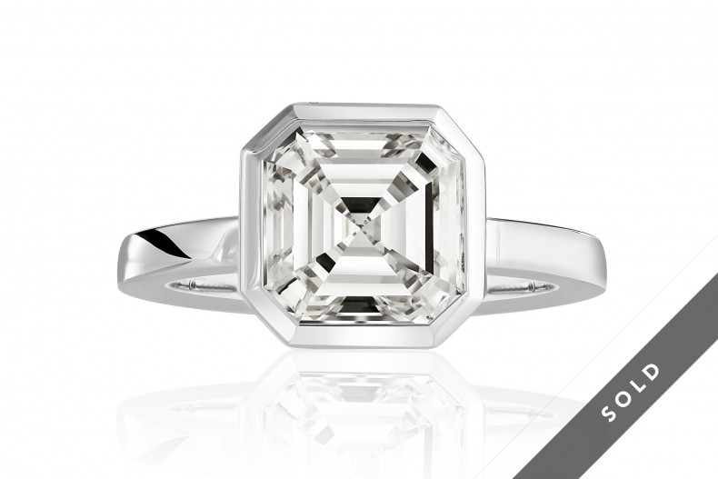Diamantring - Asscher Cut