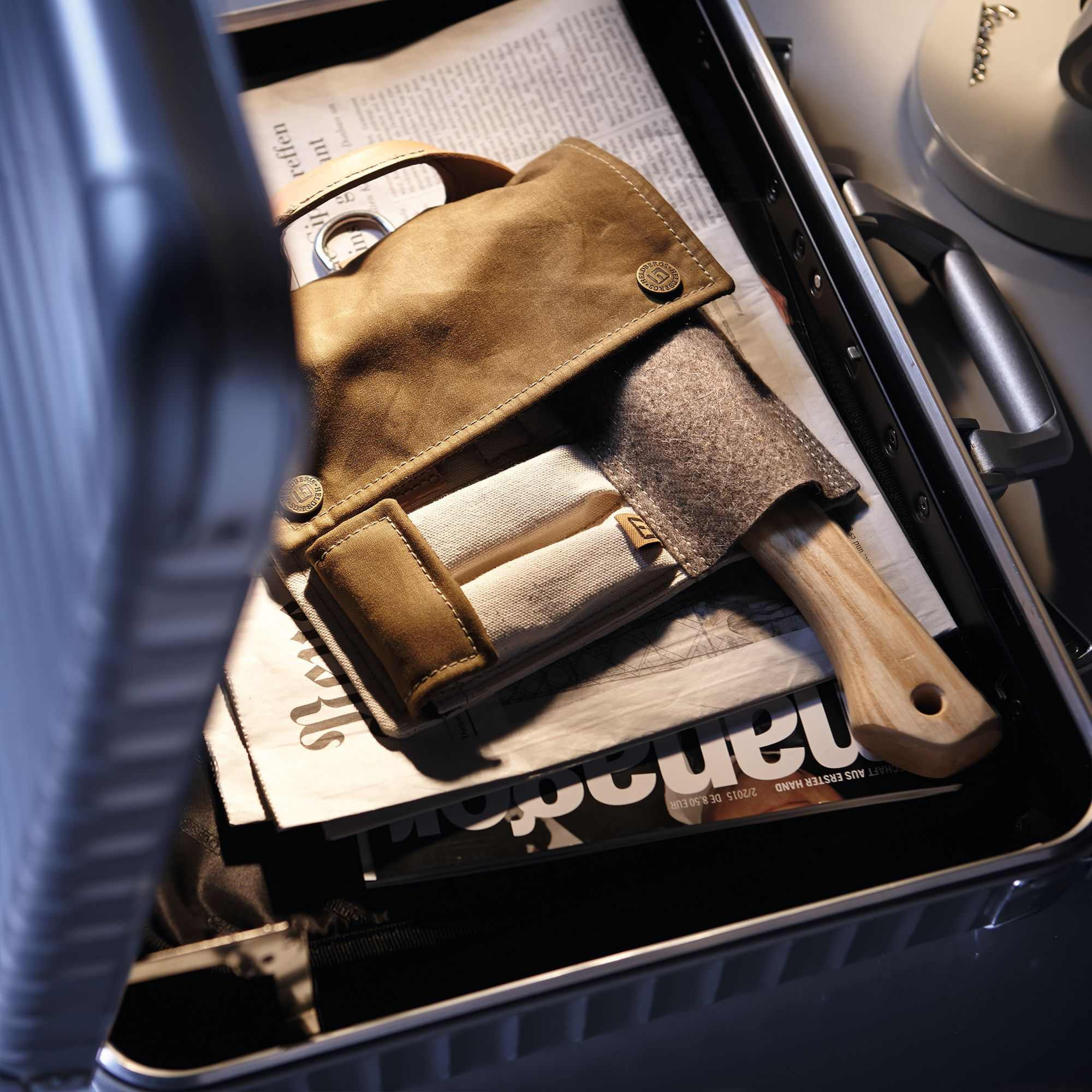 Einzigartiges mit Stil: Axt und Tasche im Set von Heldbergs