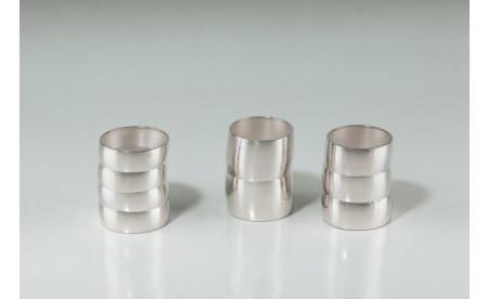 3 Becher - Silber