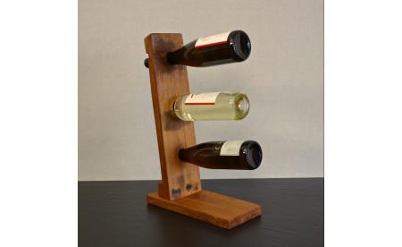 Weinflaschenständer für 3 Flaschen - WeinfassDesign Mirko Kunz