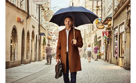 Regenschirm aus der doppler Manufaktur: Kastanie Oxford