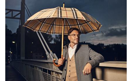 Regenschirm aus der doppler Manufaktur: Kastanie Wurzel Zürs
