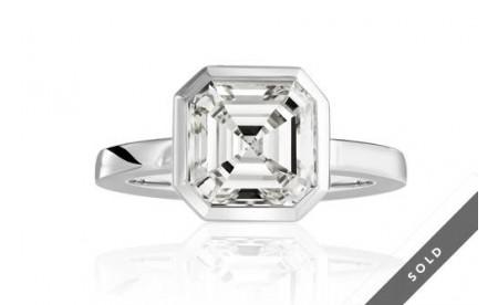 Diamantring - Asscher Cut