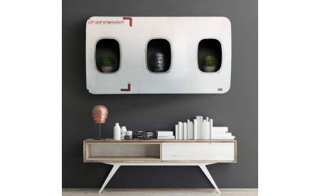 Flugzeugmöbel - Wandbar aus originalen Flugzeugfenstern
