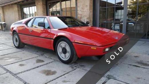 BMW M1, rot - sold -k