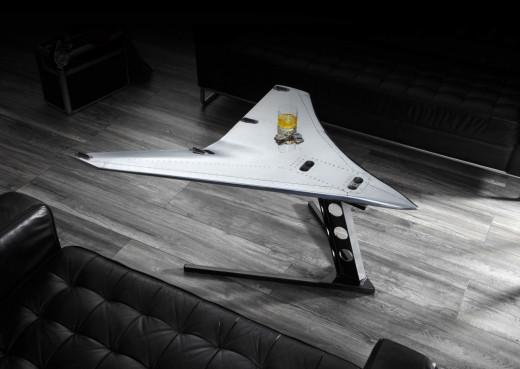 """Flugzeugmöbel - Couchtisch """"Luke"""" Wingtip-Fence A320"""
