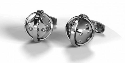 """Manschettenknöpfe - """"dice silver"""" Klein"""