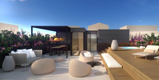 Projekt – Hervorragendes, modernes Penthouse in Palma, Mallorca Fertigstellung 2018