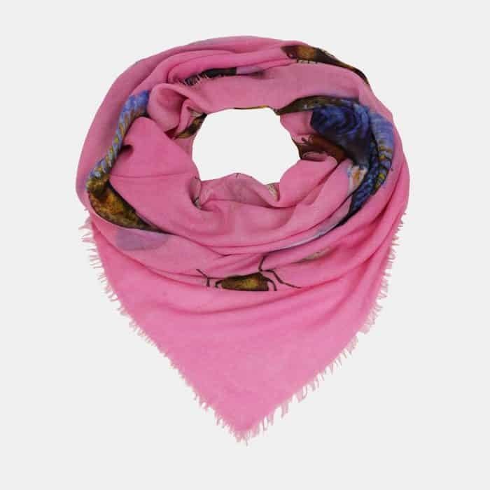 Butterfly & Fish Scarf pink 2