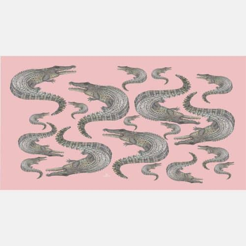 Crocodile Scarf rose 19