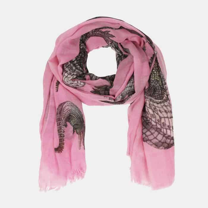 Crocodile Scarf rose 2