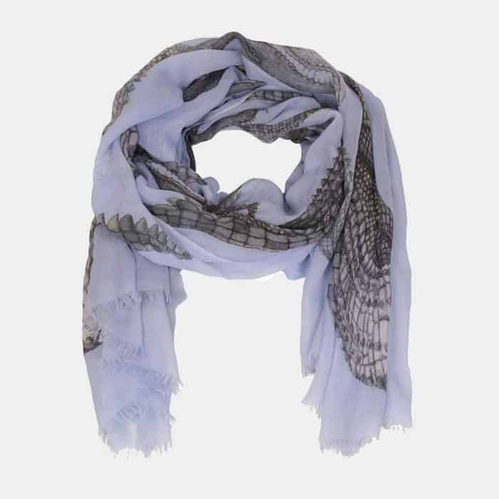 Crocodile Scarf lightblue 2