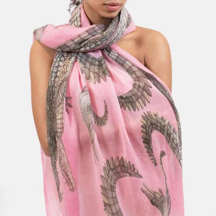 Crocodile Scarf rose 5