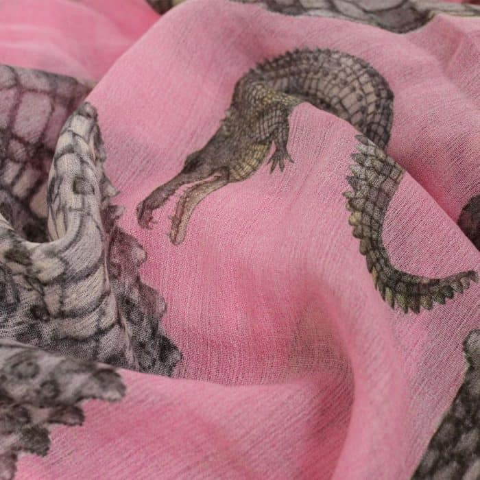Crocodile Scarf rose 6