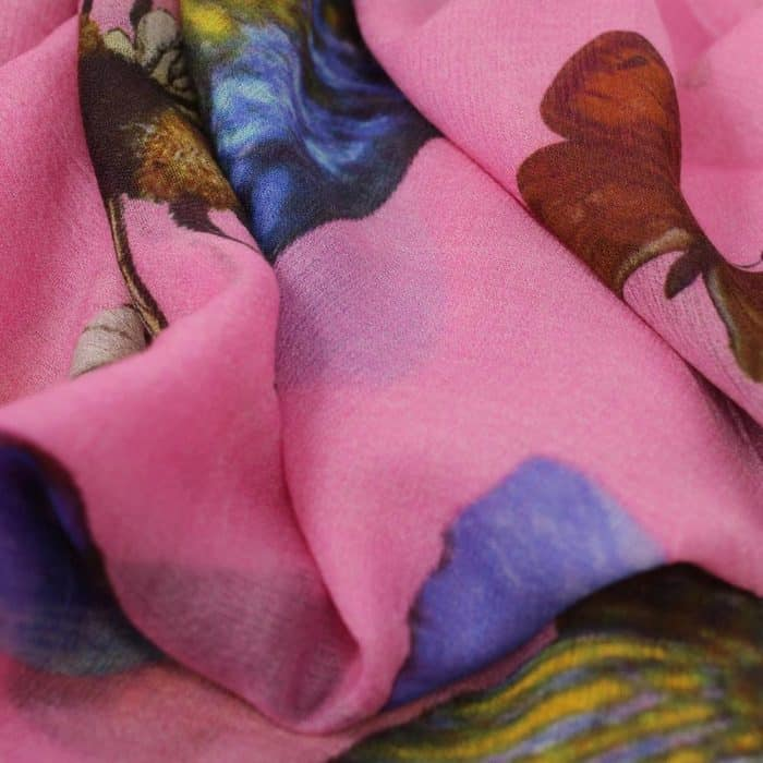 Butterfly & Fish Scarf pink 5