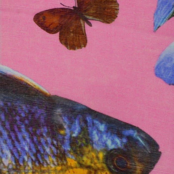 Butterfly & Fish Scarf pink 6