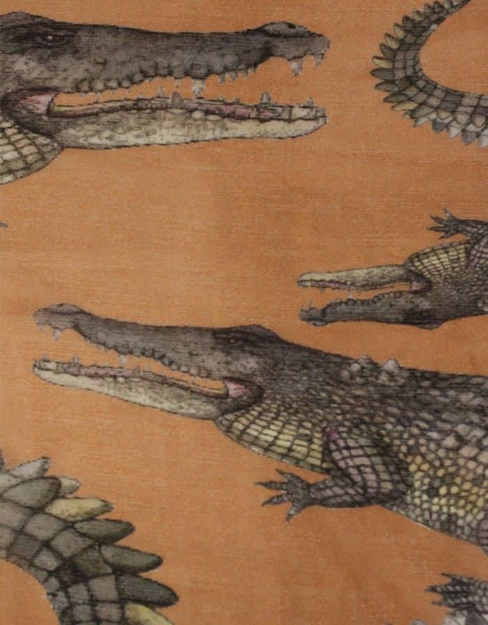 Crocodile Scarf jute 5