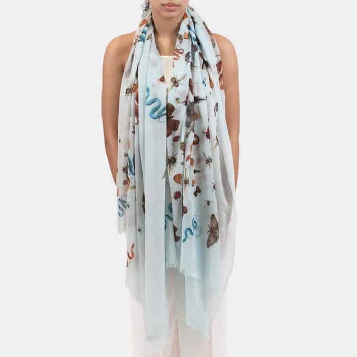Jungle Party Scarf waterblue 6
