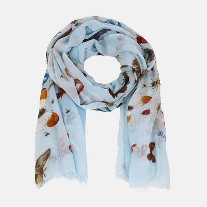 Jungle Party Scarf waterblue 2