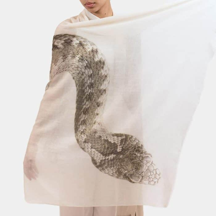 Snake Scarf weiss 3