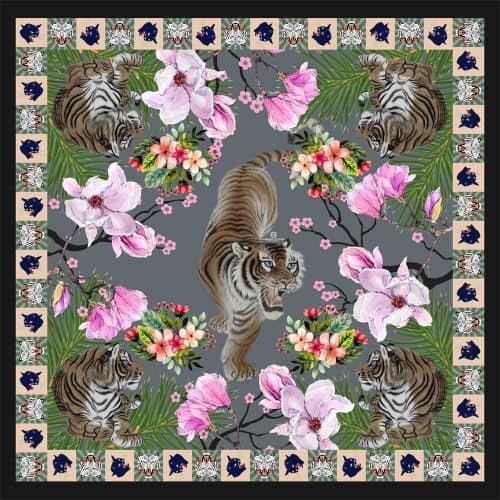Tiger Scarf grey 11