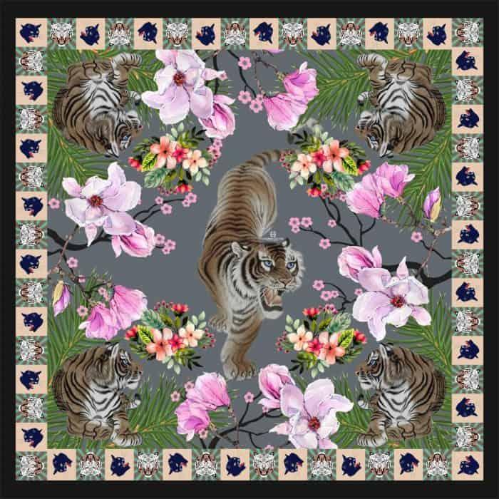 Tiger Scarf grey 1