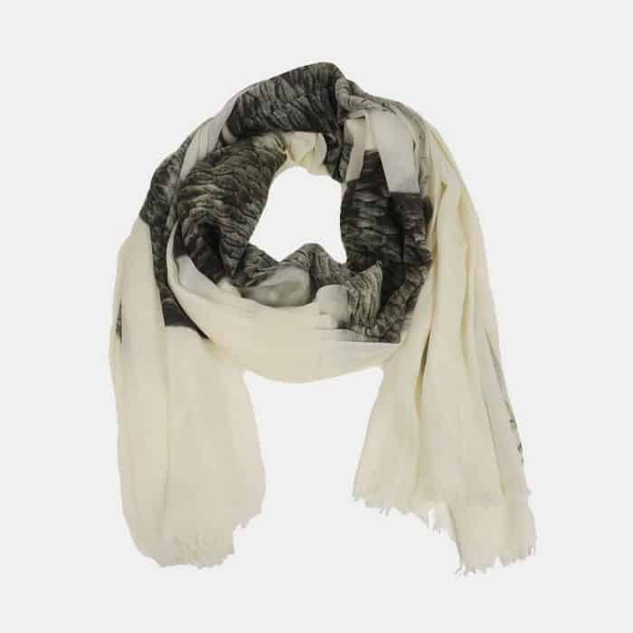 Snake Scarf weiss 2