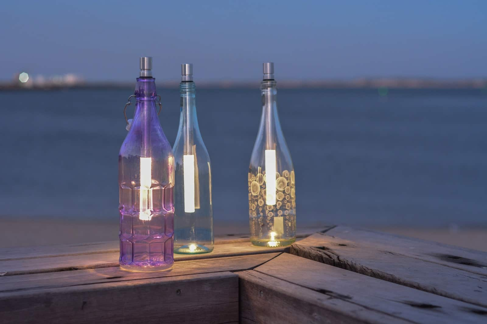 BOTTLELIGHT Flaschenleuchte warmweiss