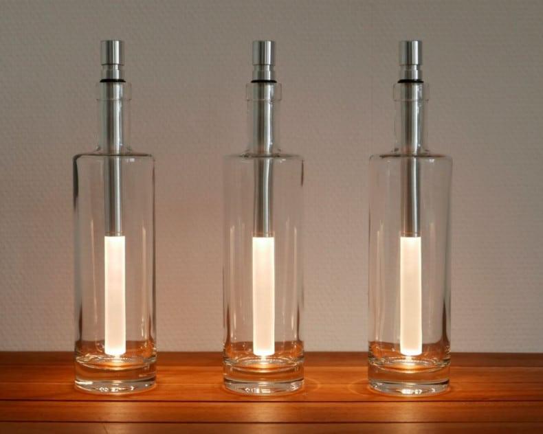 BOTTLELIGHT Flaschenleuchte warmweiß